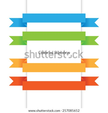 Vector colorful ribbons, design elements, EPS 8
