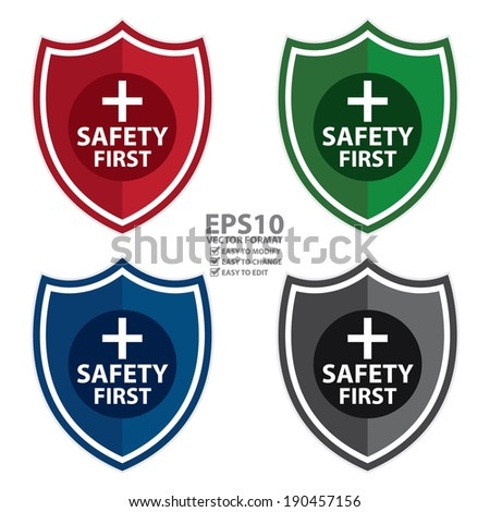 Safety Logos Vector Vector Colorful Safety First