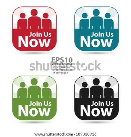 Join now button red