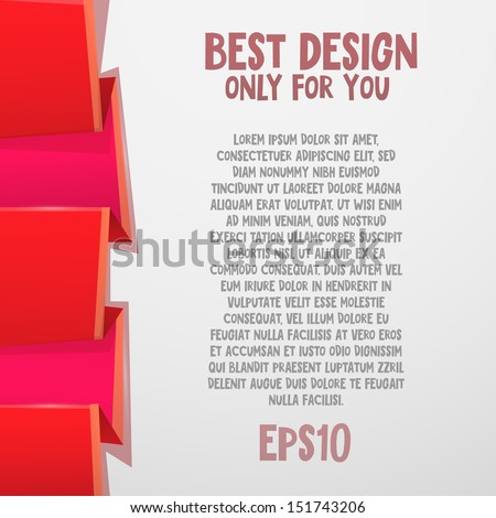Vector colorful sticker. Angular banner - stock vector