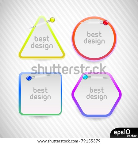 Vector colorful stickers - stock vector
