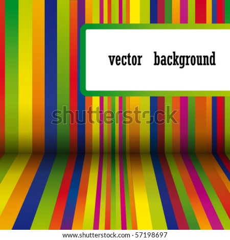 Vector colorful stripes background - stock vector