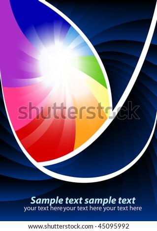 Vector colorful template; clip-art - stock vector