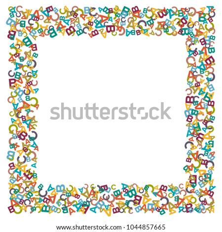 Vector Colorful Text Box Made Alphabet Stock Vector Royalty Free