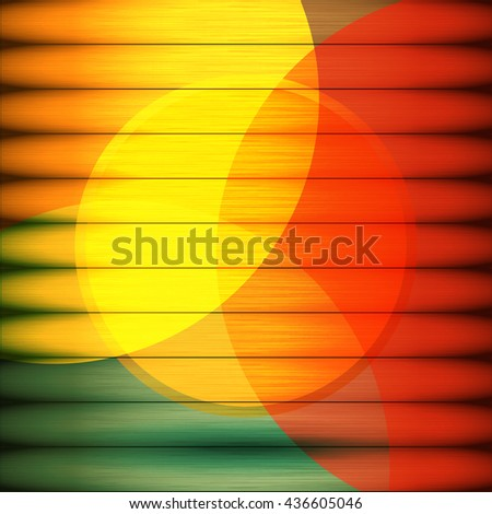 Vector colorful wooden background. - stock vector