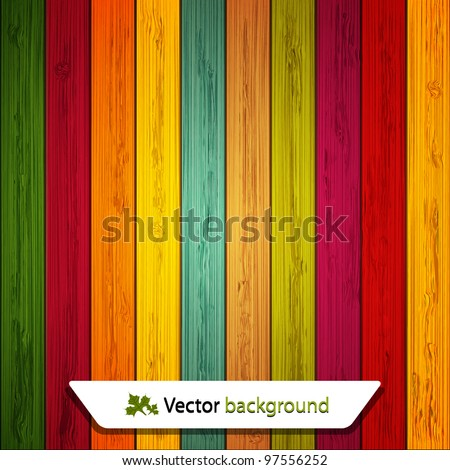Vector colorful wooden background. Eps10 - stock vector