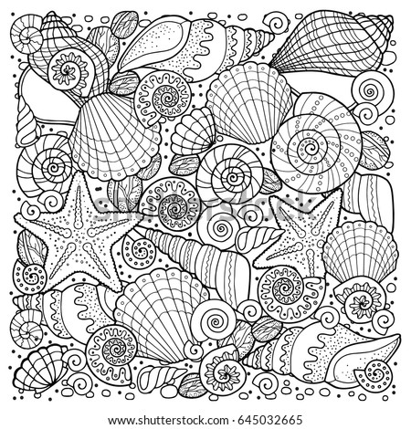 Vector Coloring Book Adult Meditation Relax Stock 645032665