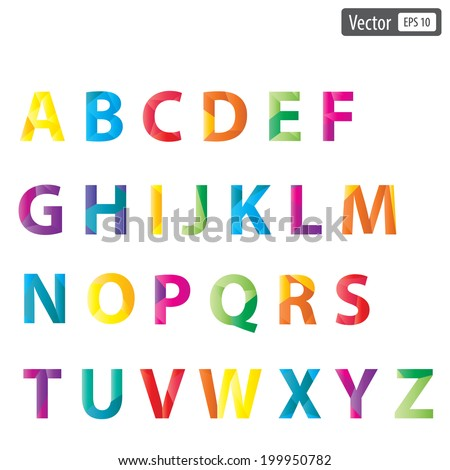 Vector colourful alphabet set. eps 10 collections - stock vector