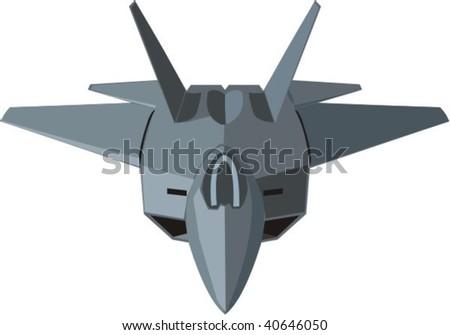 vector combat plane - stock vector