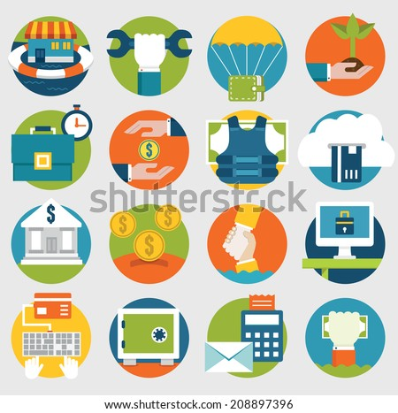 Vector Commerce and Savings icons for design - vector icons - stock vector