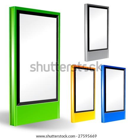 Vector commercial board (city-light). - stock vector