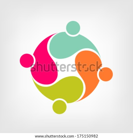 Vector Community 4 Group of People - stock vector