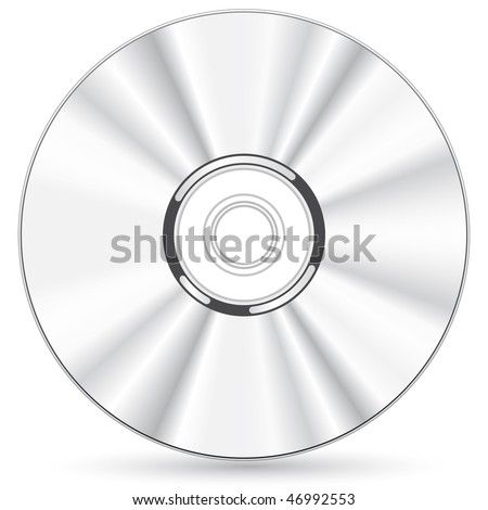 Vector compact disc - blend and gradient only - stock vector