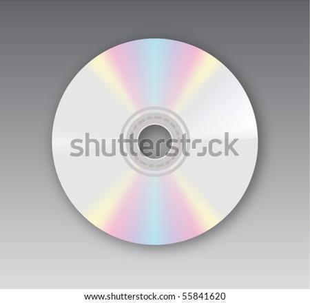 Vector compact disk - stock vector