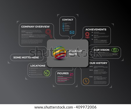 Vector Company infographic overview - stock vector