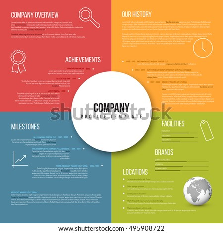 Vector Company infographic overview design template fresh color version with icons, shadows and nice typography