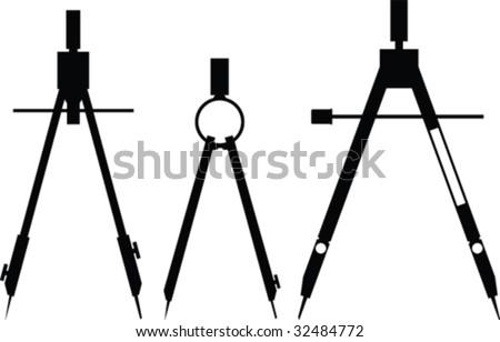 Vector compasses - stock vector