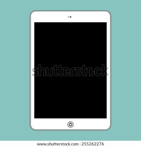 Vector computer tablet. Illustration Similar To iPad. - stock vector