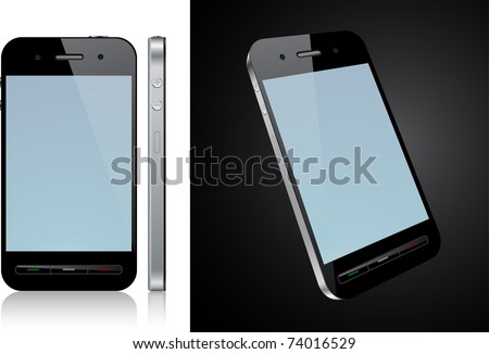 Vector Concept communicator. No transparency effects. EPS8 Only. - stock vector