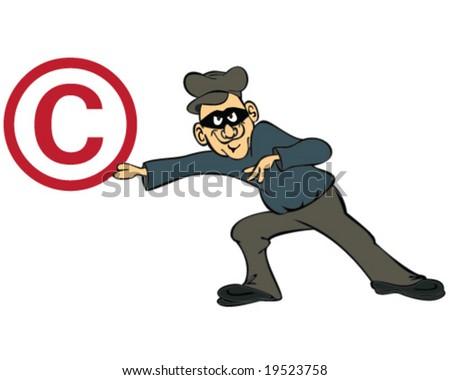 vector concept copyright theft - stock vector
