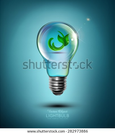 Vector concept (light bulb with the germ inside) - stock vector