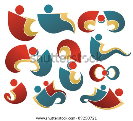 vector concept of activity and communication - stock vector