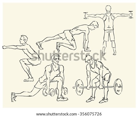 Vector concept of sport motivation poster. Athlete Sport inscriptions. Good for sport editions, fitness club, magazines and websites. Isolated objects on white background. - stock vector