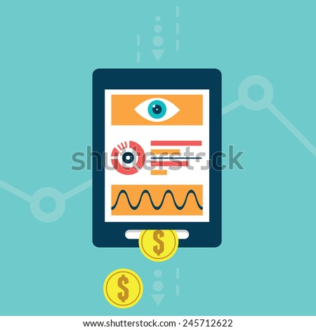 Vector concept of the analysis web site, webpage search engine optimization, website traffic conversion growth - vector illustration - stock vector
