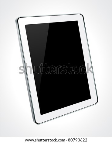 Vector Concept tablet. No transparency effects. EPS8 Only. - stock vector