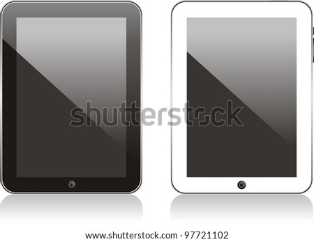 Vector concept tablet . No transparency effects. EPS8 Only - stock vector