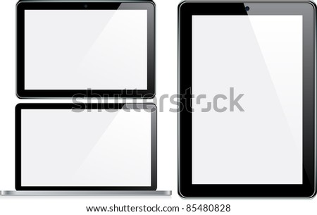 Vector Concepts of tablet and laptop. - stock vector