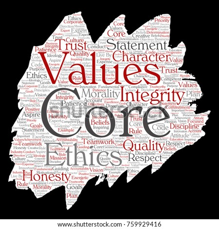 integrity ethics and core values commerce essay Business ethics and morality, and the creation and application of moral  values  are core beliefs or desires that guide or motivate our attitude and actions   some people value honesty or truthfulness in all situations others.
