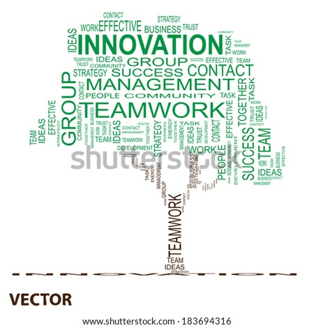 Vector conceptual green text word cloud or tagcloud isolated on white background, metaphor for business, team, teamwork, management, effective, success, communication, company, group or symbol - stock vector
