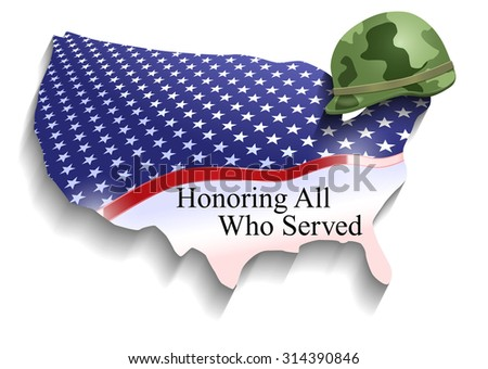 Vector Conceptual Veterans Day Illustration, Eps10 Vector, Transparency and Gradient Mesh Used, Raster Version Available - stock vector