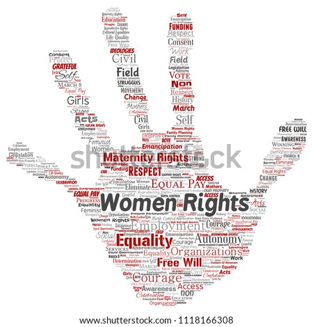 Vector Conceptual Women Rights Equality Freewill Stock Vector
