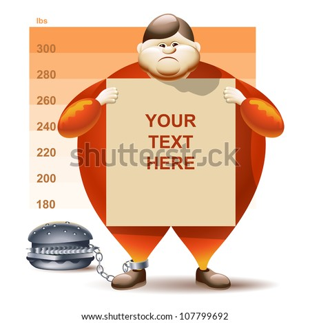 Vector Condemned To Obesity - stock vector
