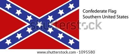 Vector Confederate Flag - stock vector