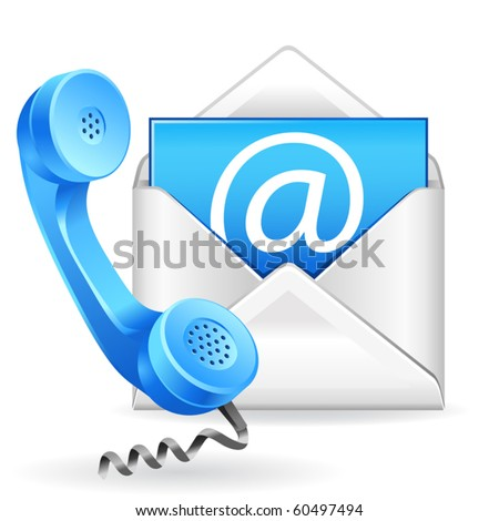 vector contact us icon - stock vector