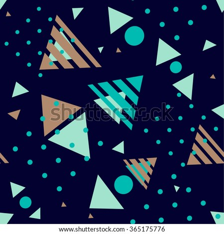 Vector contemporary geometric abstract pattern . Fun backdrop decorative print .