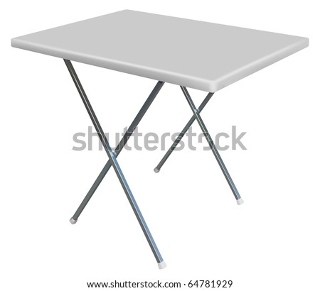 vector convertible plastic table on white background