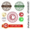 vector copyright stamp and labels - stock photo