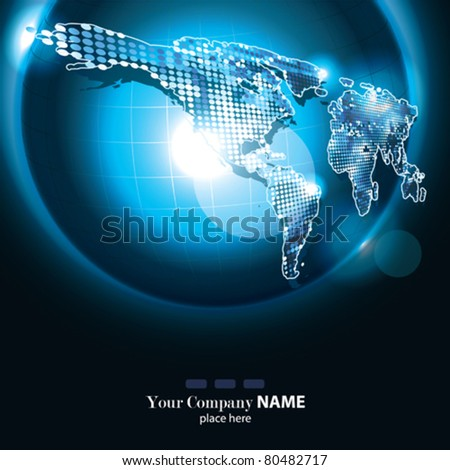 Vector Corporate Banner with Earth - stock vector