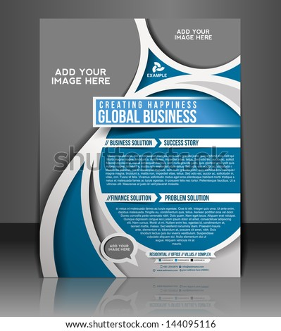 Vector  Corporate Business Brochure, Flyer, Magazine Cover & Poster Template - stock vector