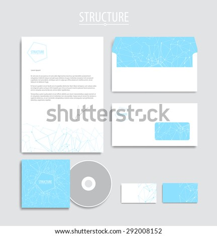 Vector corporate identity, geometric  pattern. Abstract backdrop.Geometric banner design template. Brand, visualization, corporate identity business set. Identity Design Template. Card, envelope. - stock vector