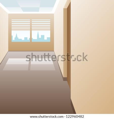 Vector. Corridor. - stock vector