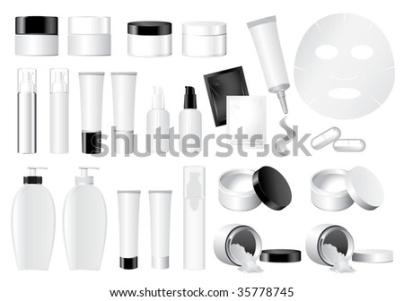 Vector Cosmetic Container dummy - stock vector