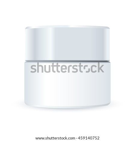 Vector cosmetic package for cream on a white background.
