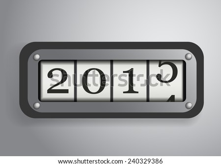 Vector : Counter roll of the new year 2015 - stock vector