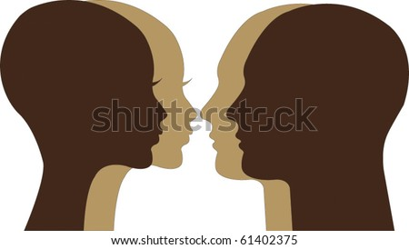 vector couple - stock vector