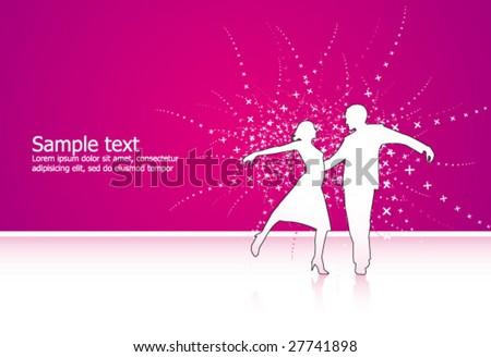 Vector Couple ballroom dance - stock vector